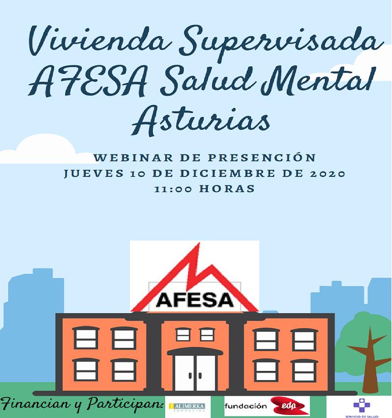 A través del seminario Web, AFESA Salud Mental Asturias, presentará la Vivienda Supervisada